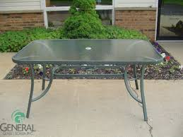 Glass Patio Table With Umbrella Hole Tabletops