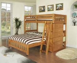 Bunk Beds Twin Over Full With Desk Twin Over Full Bunk Bed With Stairs White Bedding Set Before The