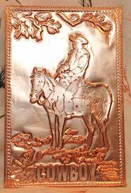 kopper kard postcards vintage cowboy embossed postcard western copper card kopper kard