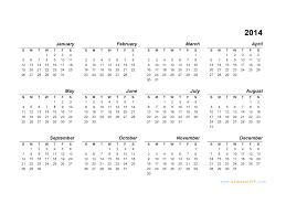 2014 calendar blank printable calendar template in pdf word excel