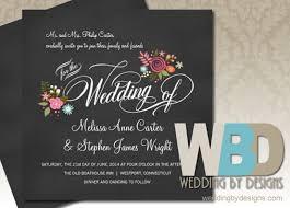 Black Wedding Invitations Black Wedding Invitations Classic Wedding Elegant Wedding