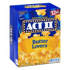 act ii butter lovers popcorn 2 75 ounce 12 count walmart com