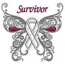 cancer awareness butterfly with ribbon applique machine embroidery