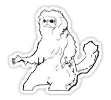 Meme Sticker - white cat monkey meme sticker stickers pinterest monkey and meme