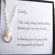 asking bridesmaids poems of honor gifts infinity necklace asking
