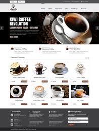 web shop design modern professional web design for my coffee box by om design