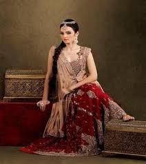 maroon dresses for wedding golden and maroon bridal dress fashionhugs