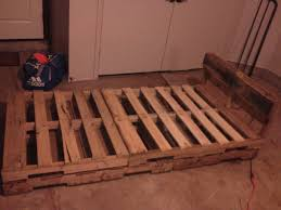 simple pallet twin bed frame i built pinterest pallet