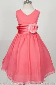 coral wrinkled flower girl dress summer wedding favorite color