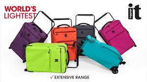 lightest cabin bag world s lightest wide handle design by it luggage