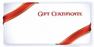 certificate gift certificate template