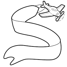 image of airplane with banner clipart 10616 plane with banner