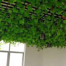 10pcs artificial green ivy leaf hanging garland flower vine for