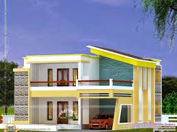 flat roof house plan and elevation kerala home design floor style
