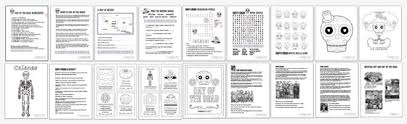 printable kids activities learn and play day of the dead pdf