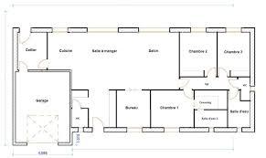 plan maison 4 chambres plain pied gratuit plan maison plain pied 120m2