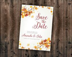 affordable save the dates autumn save the date etsy
