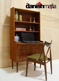 danish modern teak secretary desk credenza bar danish mafia