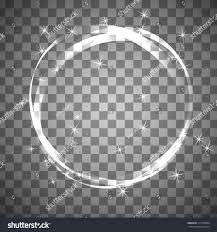 shiny circle frame on transparent background stock vector