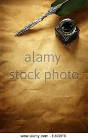 parchment writing paper writing letter on parchment paper stock photo royalty free image