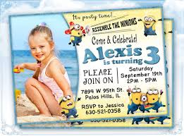 design simple minion birthday party invitation wording with