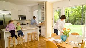 Simple Open Kitchen Designs Astonishing Simple Kitchen And Dining Room Design 72 With