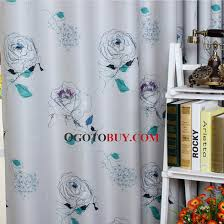 Energy Efficient Curtains Cheap Blue Polyester Thick For Light Shading Insulated Thermal Energy