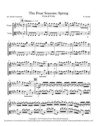 the four seasons violin viola duet sheet