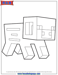 minecraft pig coloring page h u0026 m coloring pages