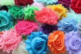 shabby flowers chiffon shabby flowers 20 assorted single flowers grab bag