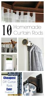 Easy Curtain Rods 10 Curtain Rods You Can Make