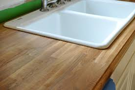 porcelain kitchen sink paint best sink decoration my complete kitchen remodel story for about 12 000 jennifer wood butcher block countertops ikea
