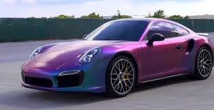 new porsche 911 turbo new porsche 911 turbo s gets sprayed in chameleon plasti dip