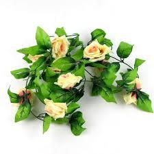 ivy home decor 8ft artificial fake silk rose flower ivy vine hanging garland