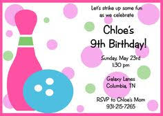 bowling invitation printable or printed with by thatpartychick