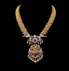 gold haram sets lakshmi pendant gundla haram pendants indian jewelry and gold