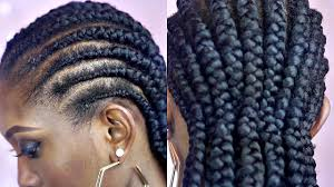 tutorial how to braid big cornrows on short natural hair youtube