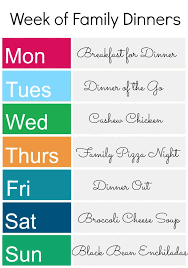 an easy meal plan for busy families