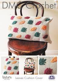 dmc crochet pattern leaves cushion cover dmc pattern home