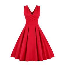 sleeveless dress wholesale retro sleeveless tea length party dress 4xl online
