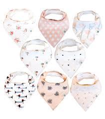 amazon com baby bandana drool bibs 4 pack for girls