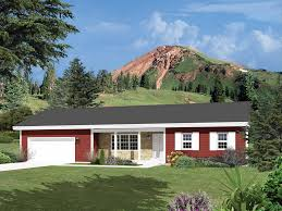 ranch home plans with front porch royaloak shallow lot home plan 008d 0124 house plans and more