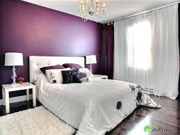chambre prune et gris chambre prune et blanc murs blancs et mur couleur prune pour la