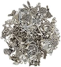 Parts For Jewelry Making - amazon com femitu silver pewter charms pendants mega mix diy for
