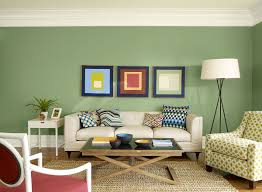 best interior design living room with shades of green colours