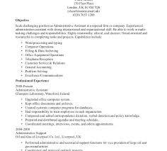 sample resume for clerical administrative administrative clerk