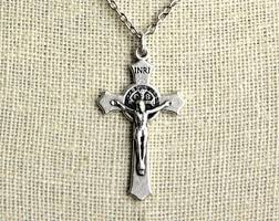 crucifix necklace silver images Crucifix necklace etsy jpg