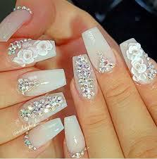 imagenes de uñas acrilicas con pedreria espectaculares uñas acrílicas nails pinterest uñas acrílico