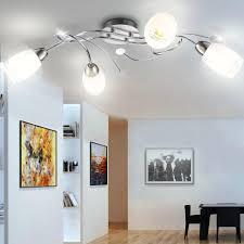 Esszimmer Lampe Design Hochwertige Decken Leuchte Glas Satiniert Chrom Esszimmer Lampe