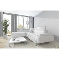 canape scoop scoop canapé d angle gauche simili cuir blanc 4 places livraison
